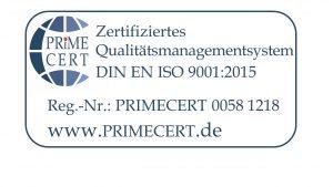 Zertifiziertes Qualitätsmanagement - DIN EN 9001:2015